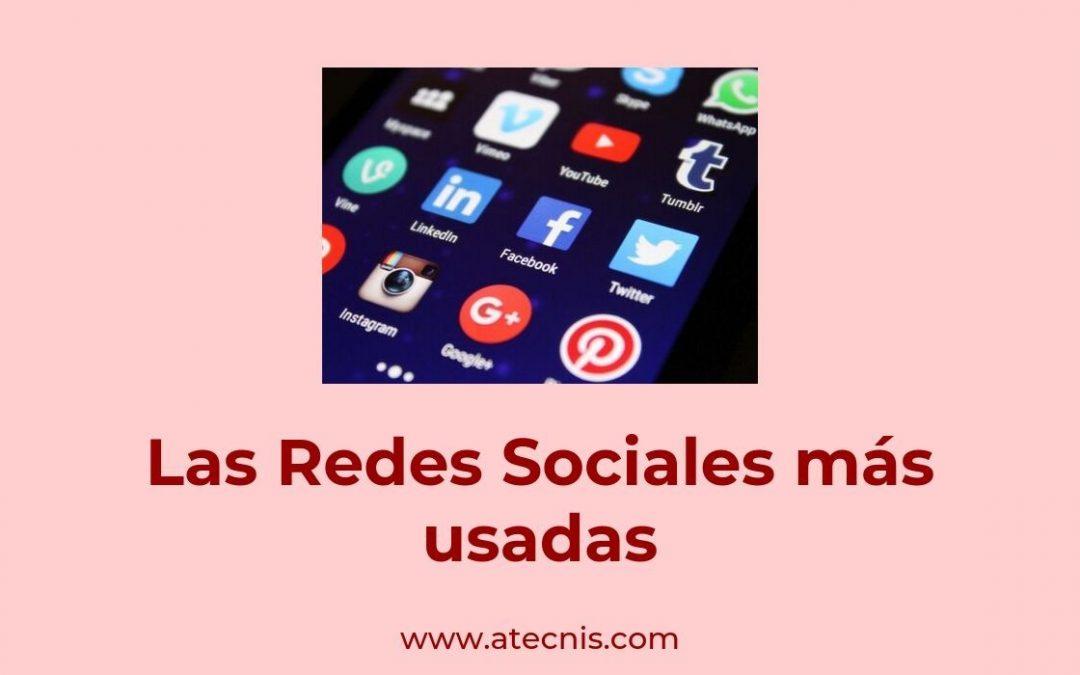 Las Redes Sociales más usadas
