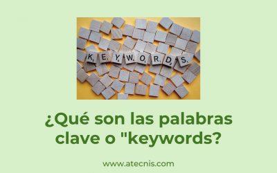 ¿Qué son las palabras clave?