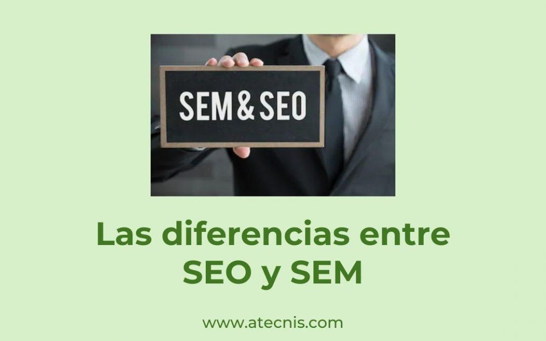 Las diferencias entre SEO y SEM