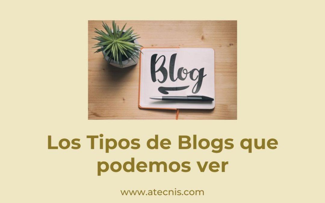 Los Tipos de Blogs que podemos ver