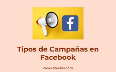 Tipos de campañas en Facebook