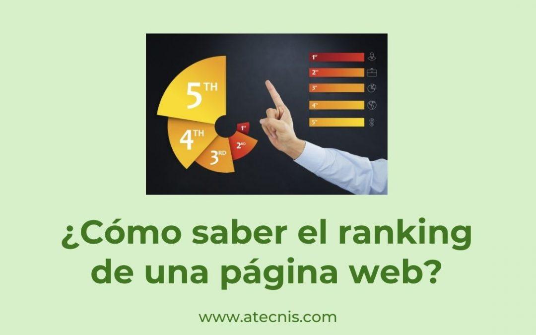 cómo saber el ranking de una página web